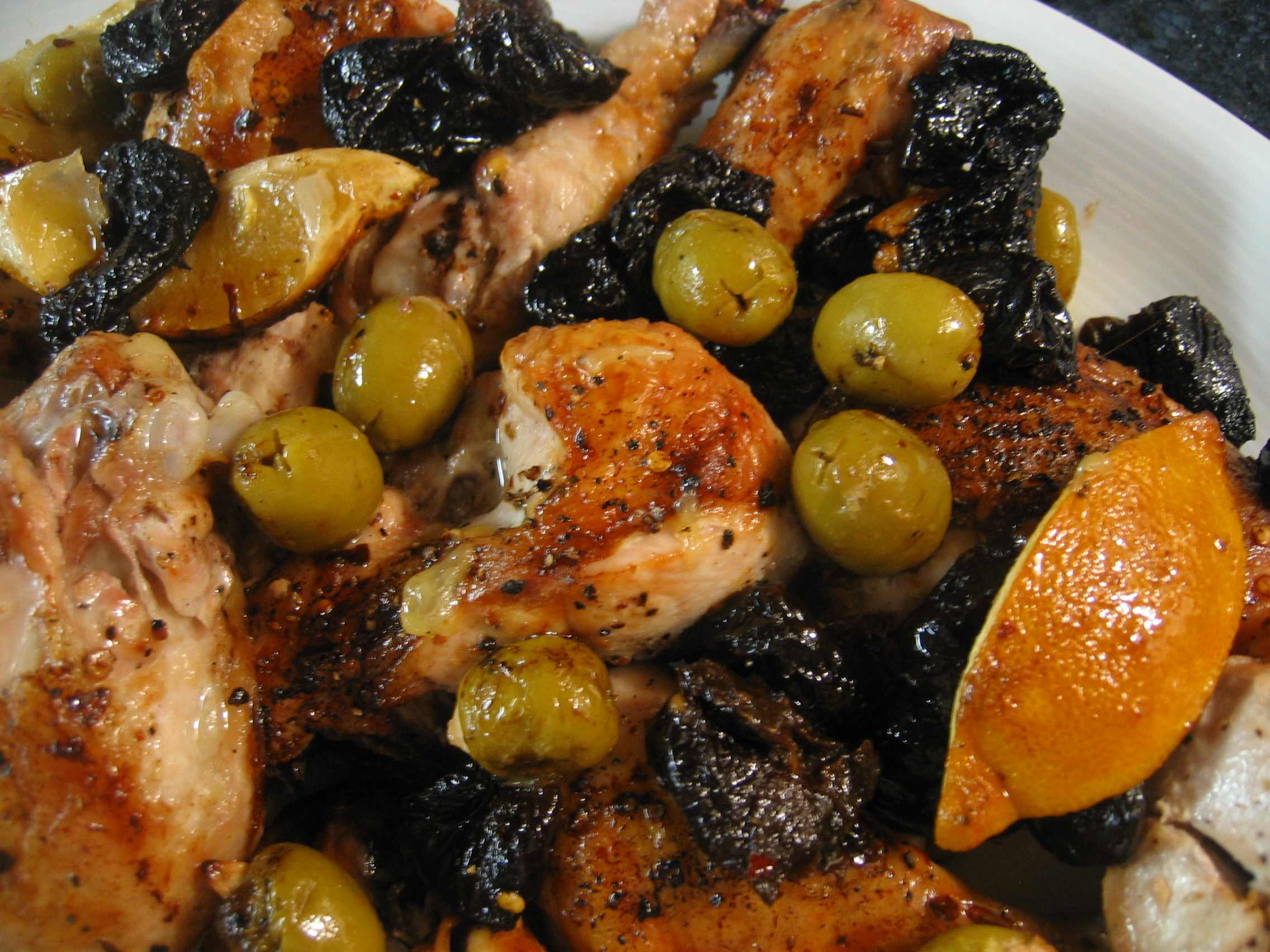 Roast Chicken with Olives and Prunes « Eye for a Recipe
