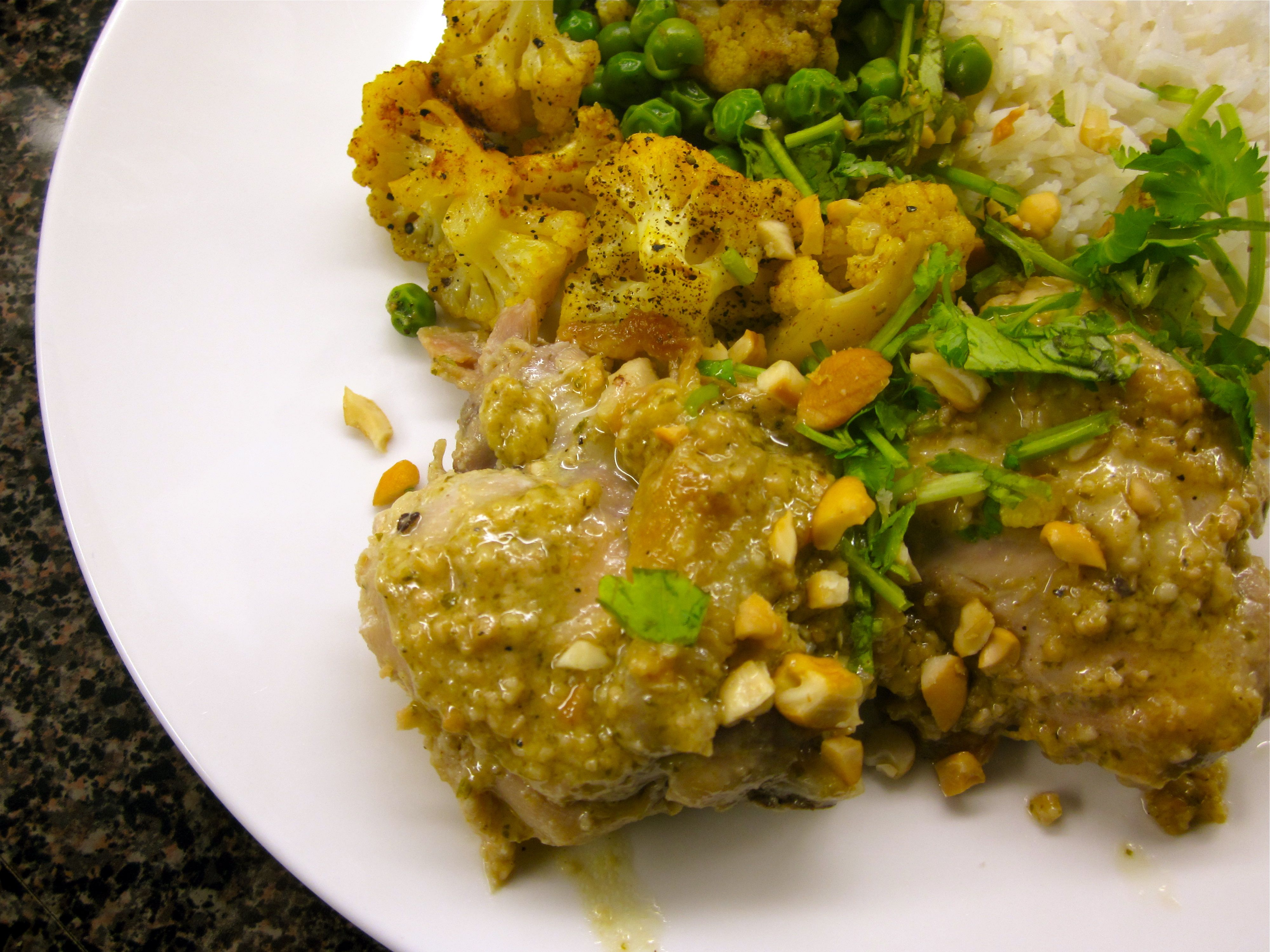 Garnish with chopped cashews and cilantro and serve with basmati rice ...
