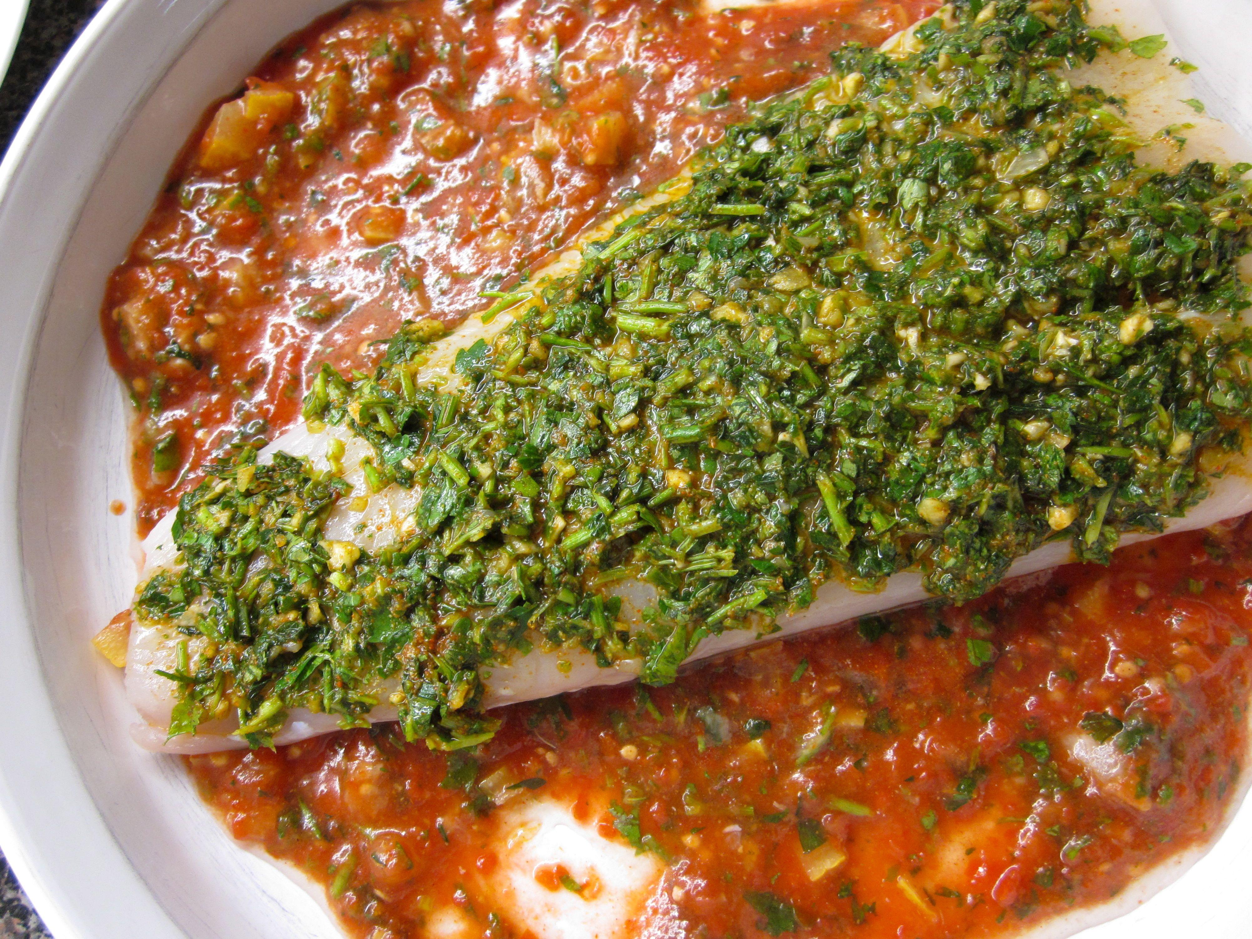 marinated halibut