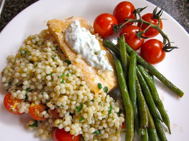 Slow-Roasted Salmon with Cherry Tomatoes and Couscous « Eye for a ...