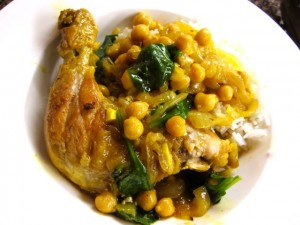 Indian-Spiced Chicken with Chickpeas and Spinach « Eye for a Recipe