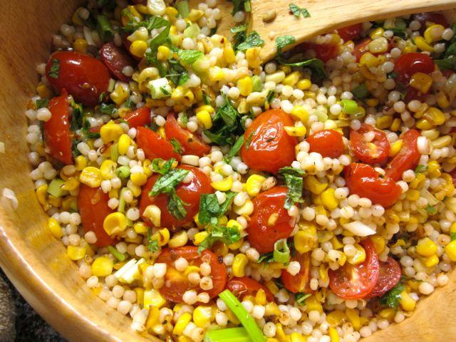 Roasted Cherry Tomato, Corn & Israeli Couscous Salad « Eye ...