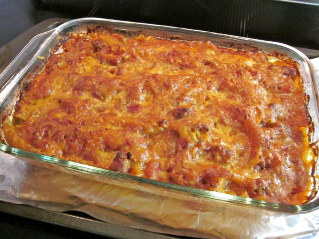 tomato sausage lasagna