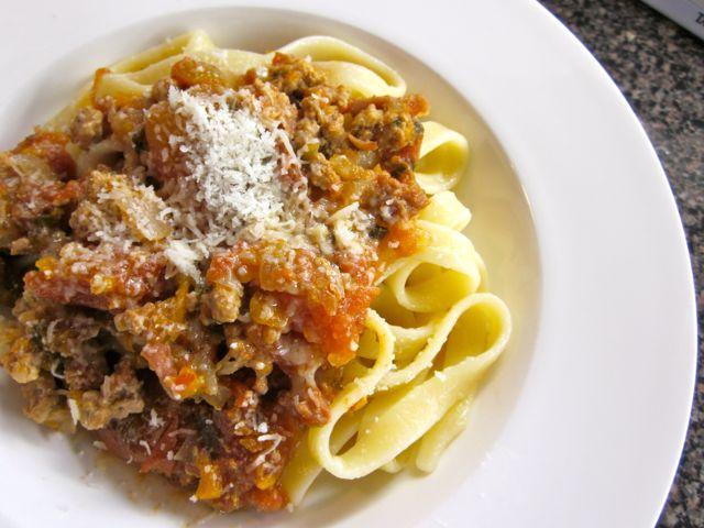 Fettuccine alla Bolognese « Eye for a Recipe