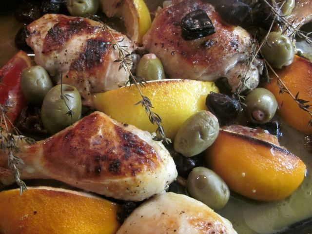 ... Roast chicken with dates, olives & capers - brixton dinnerlady