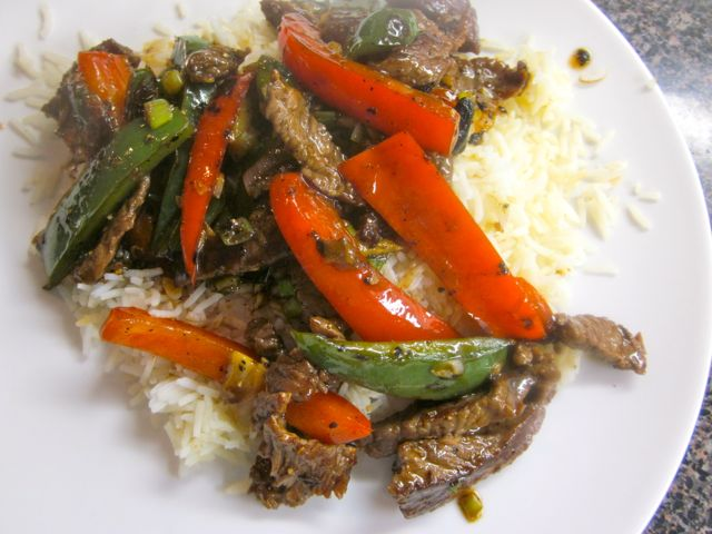 Beef Stir-Fry with Bell Peppers and Black Pepper Sauce ...